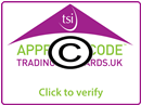 Member of a Trading Standards Institute approved consumer code.
